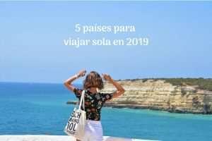5 países para viajar sola en 2019