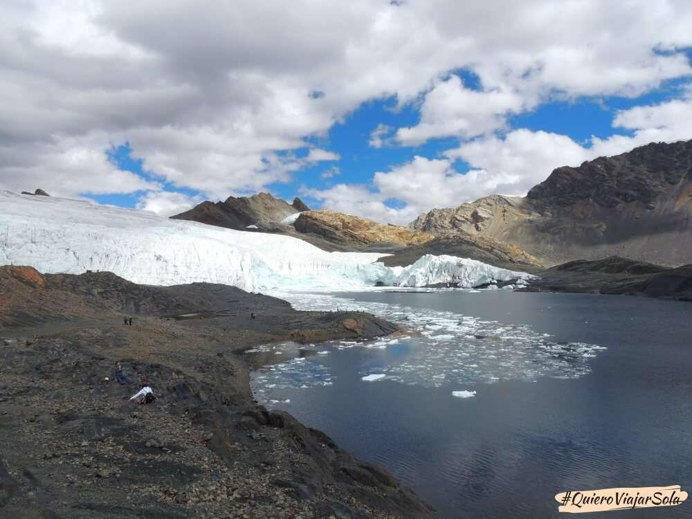 Glaciar Pastoruri, viajar sola a Perú