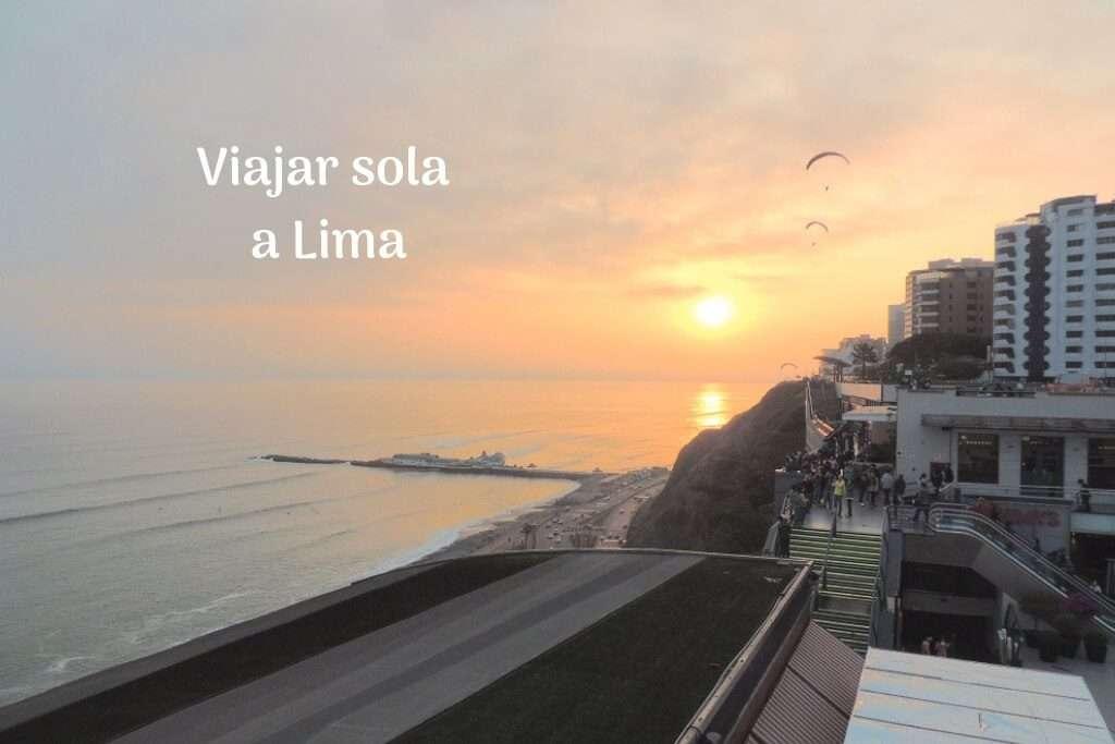 Viajar sola a Lima