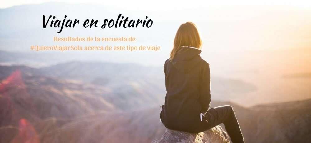 Encuesta 'Viajar en solitario'