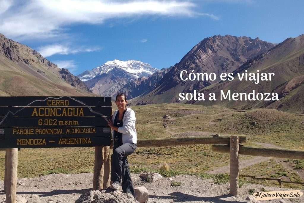Viajar sola a Mendoza