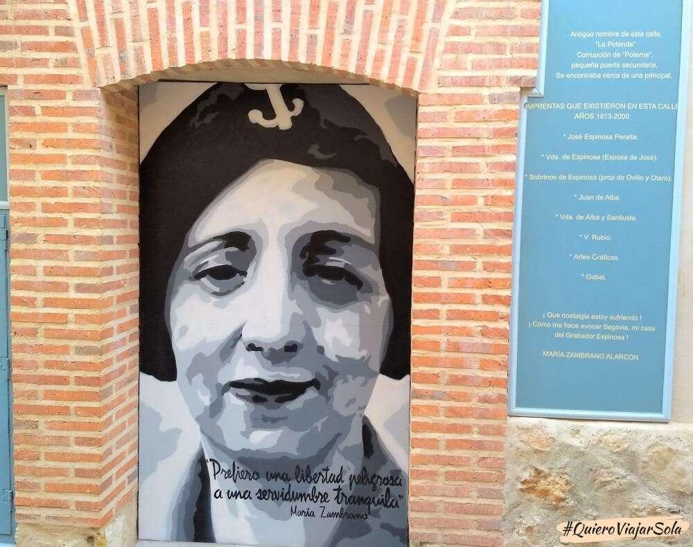 Viajar sola a Segovia, María Zambrano