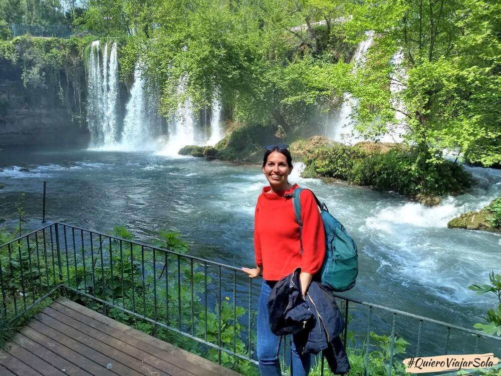 Viajar sola a Antalya y Alanya, Cascadas Düden