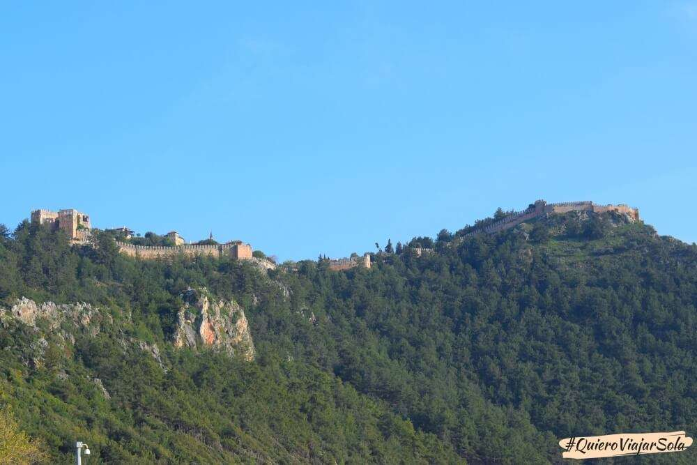 Viajar sola a Antalya y Alanya, castillo Alanya