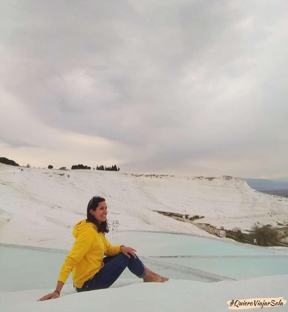 Viajar sola a Pamukkale