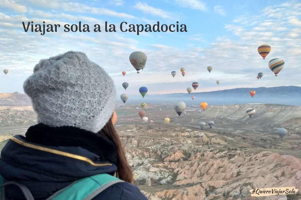 Viajar sola a la Capadocia y volar en globo