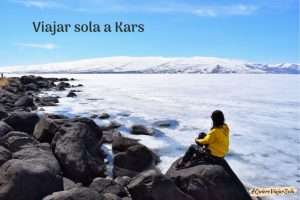Viajar sola a Kars, lago Çildir