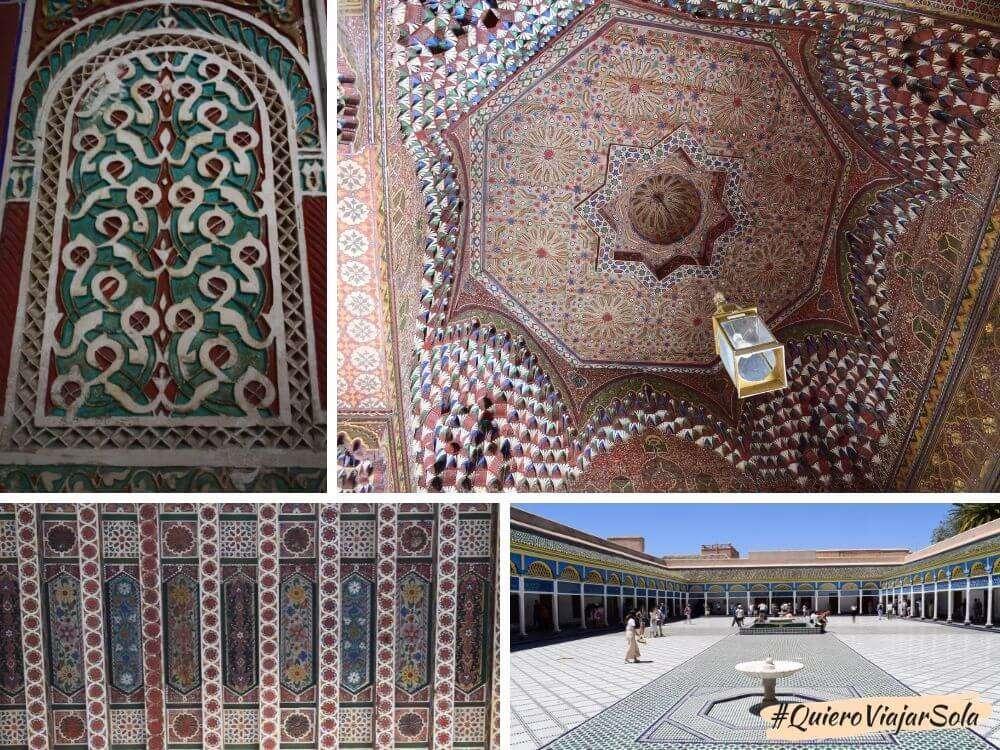 Viajar sola a Marrakech, Palacio Bahía