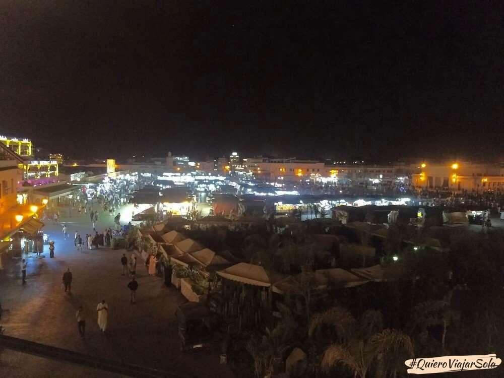 Viajar sola a Marrakech, Plaza Jemaa El Fna