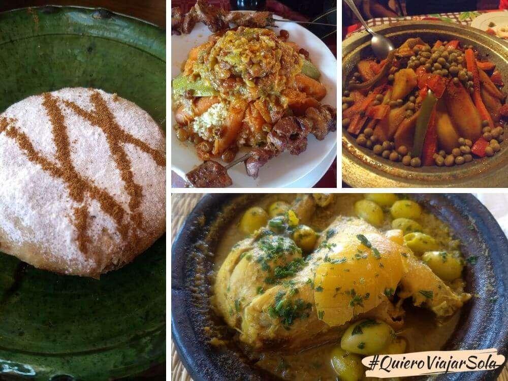 Viajar sola a Marruecos, gastronomía marroquí
