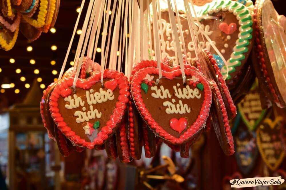 Viajar sola a Alemania, galletas corazón