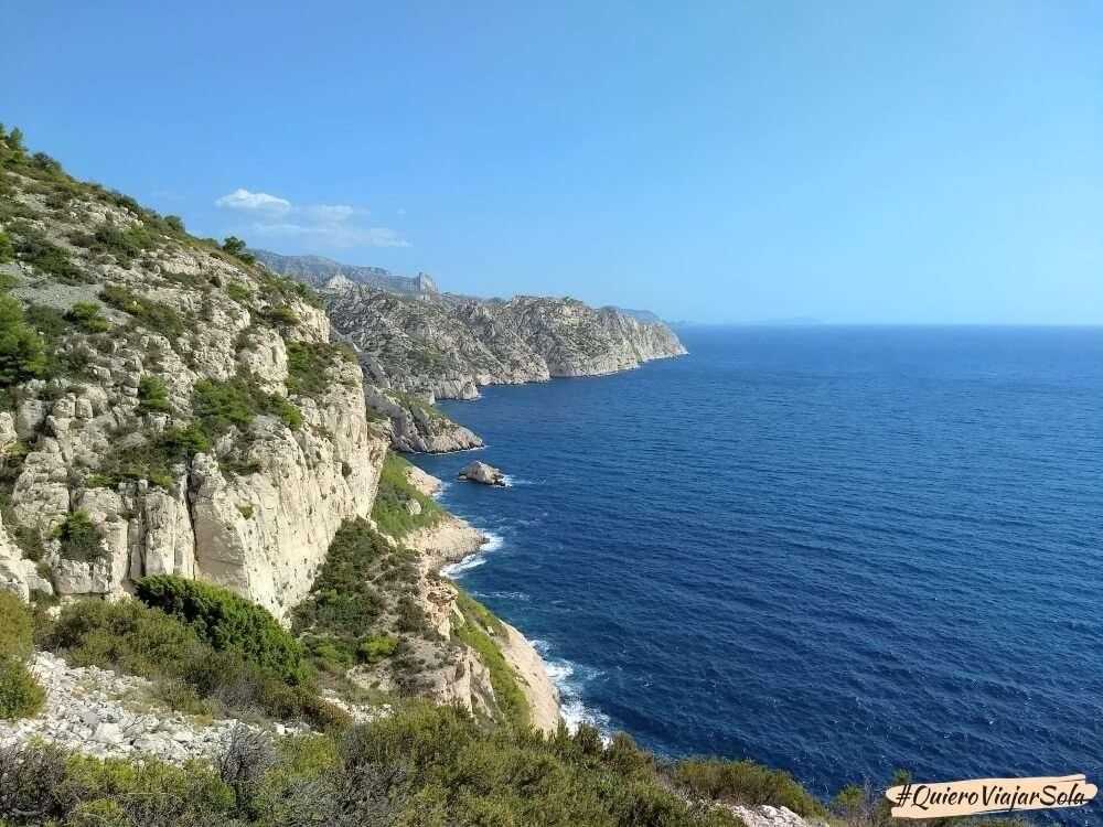 Viajar sola a Marsella, Calanques