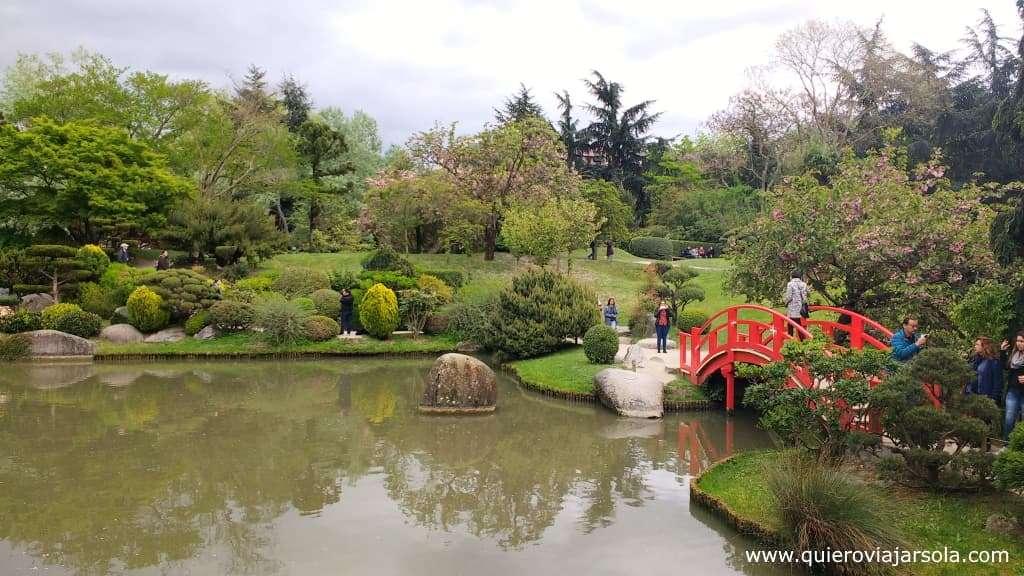 Viajar sola a Toulouse, Jardín Japonés