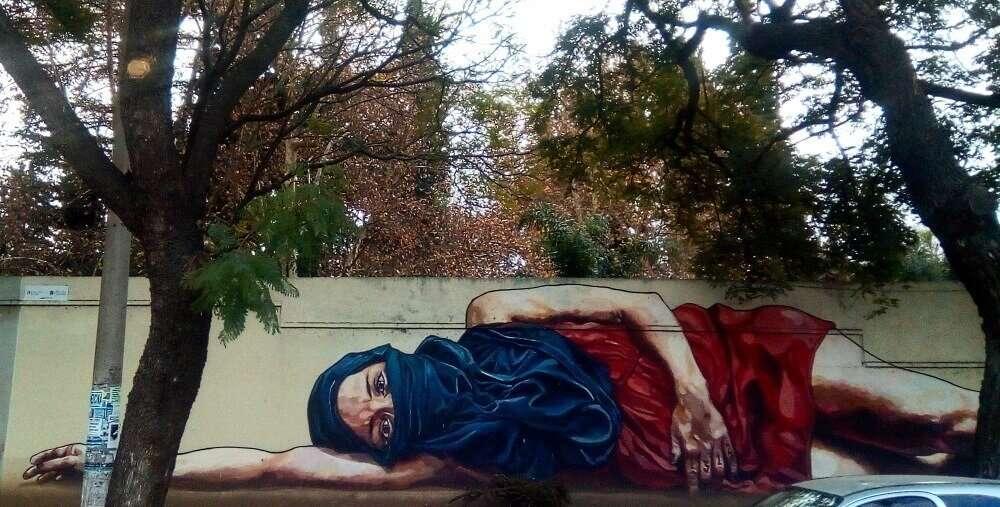 Vacaciones de invierno en el centro de Argentina, graffiti en Córdoba