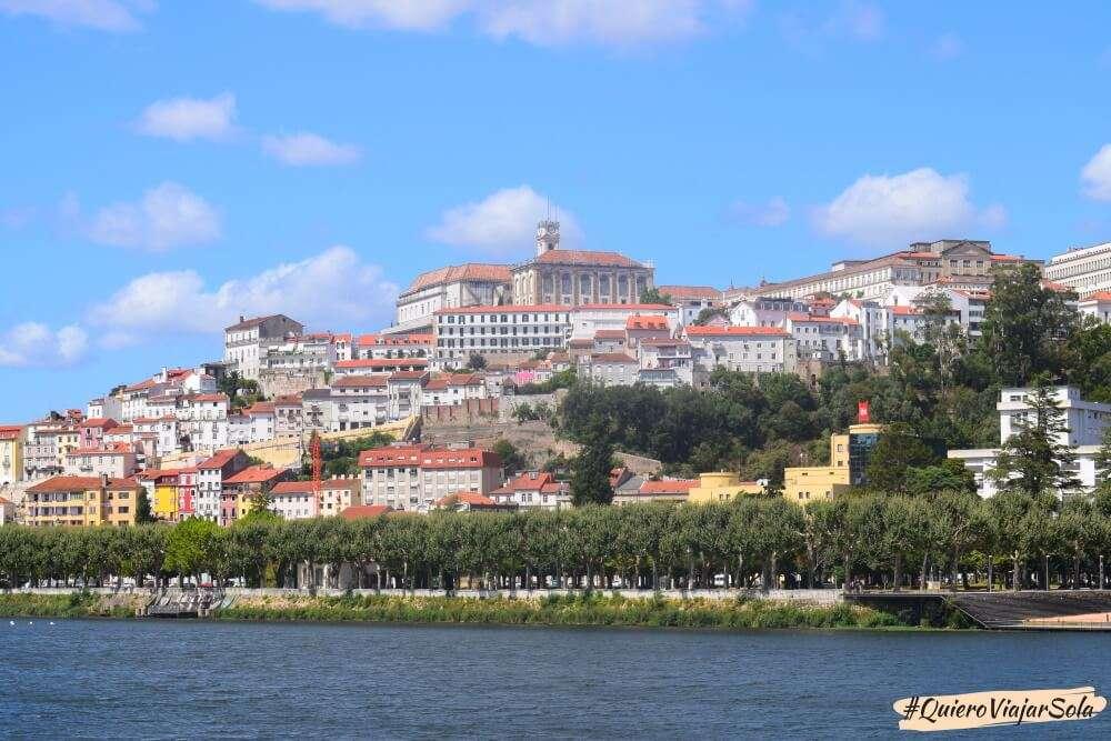 Viajar sola a Coimbra, río Mondego