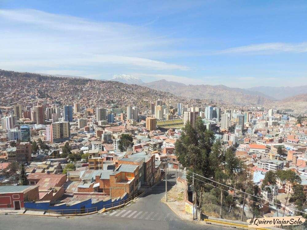 Viajar sola a La Paz, mirador Killi Killi