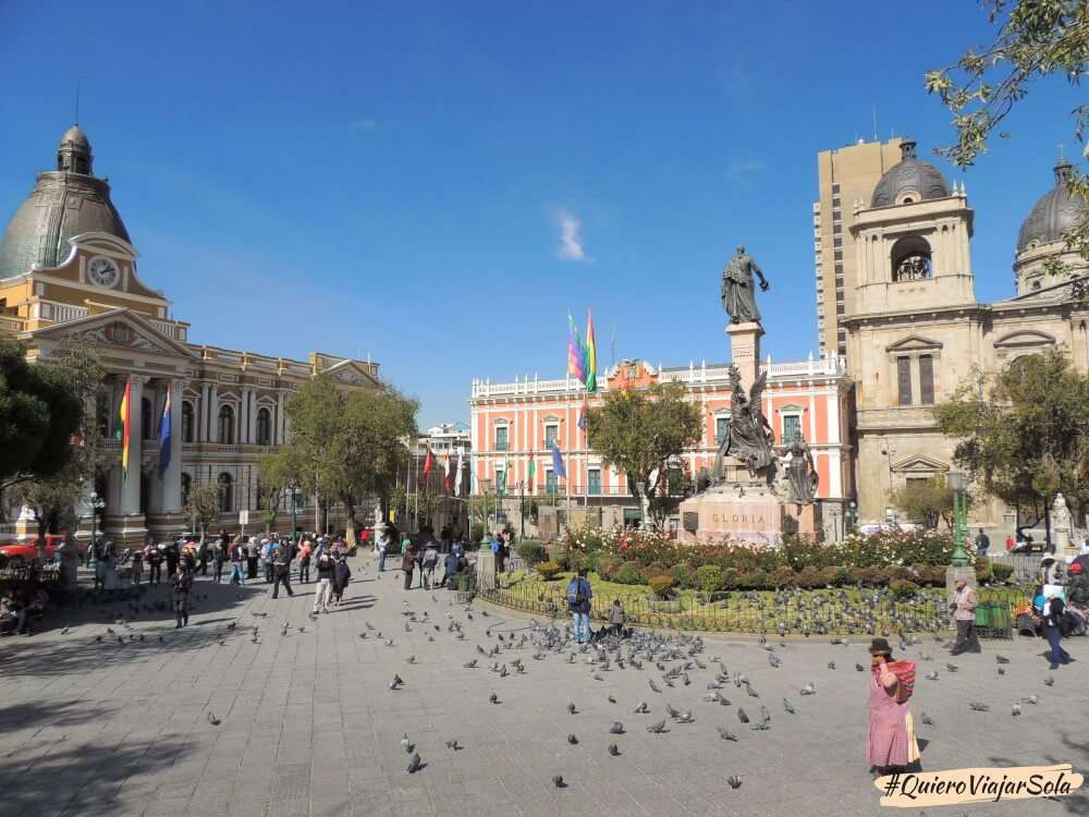 Viajar sola a La Paz, Plaza Murillo
