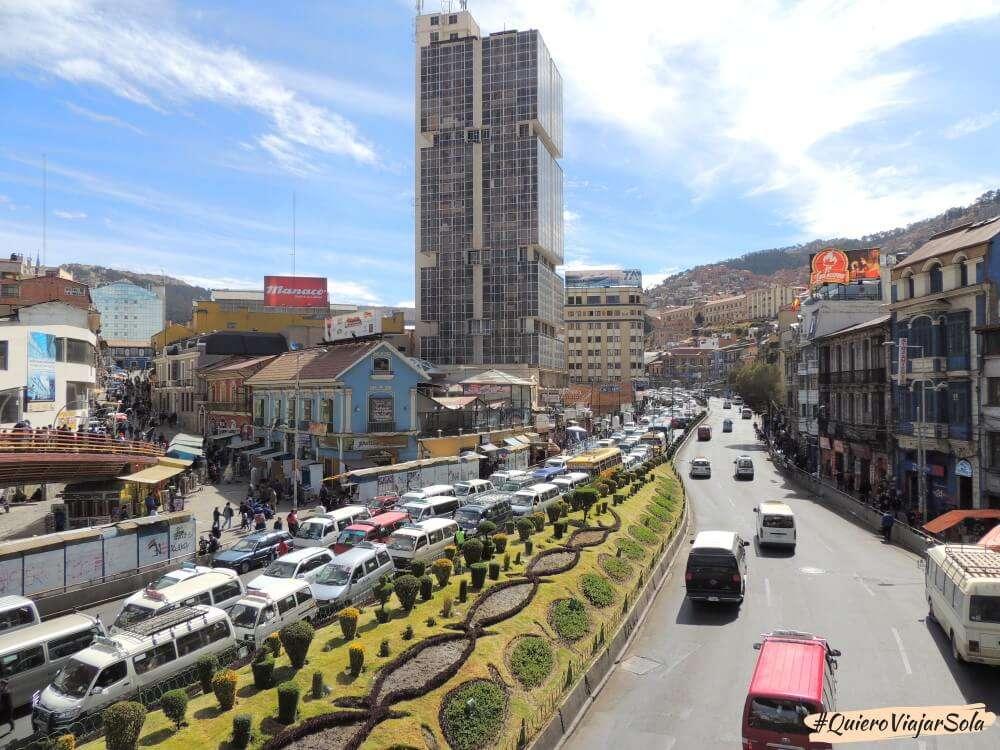Viajar sola a La Paz, tráfico