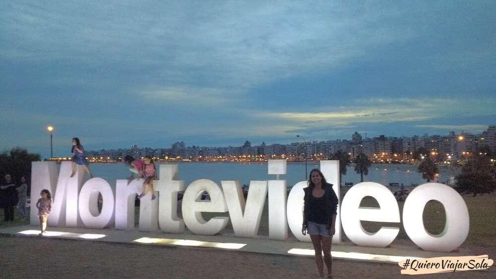 Viajar sola a Montevideo, letras Pocitos