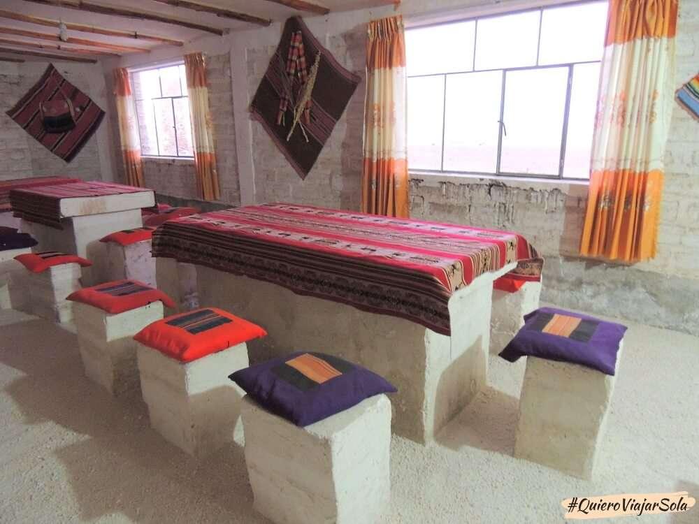 Viajar sola al Salar de Uyuni, hotel de sal