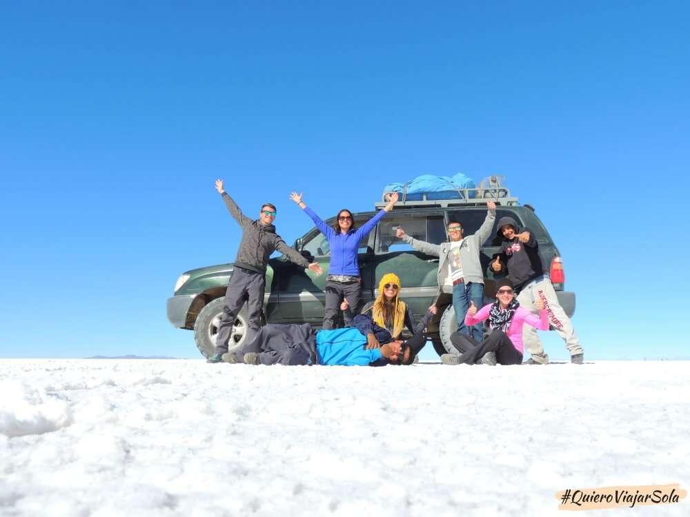 Viajar sola al Salar de Uyuni, grupo tour