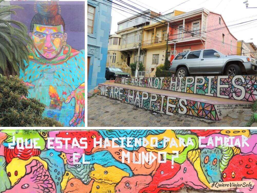Viajar sola a Valparaíso, murales