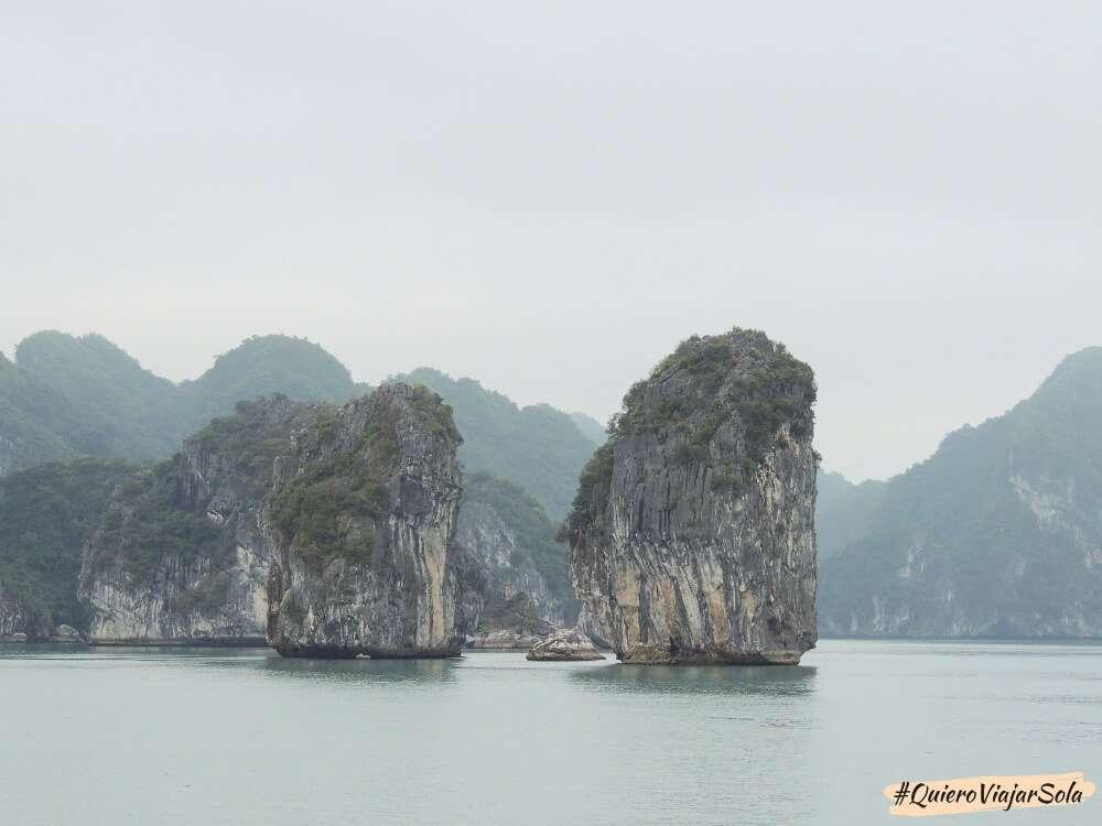 Viajar sola a Vietnam, Bahía de Halong