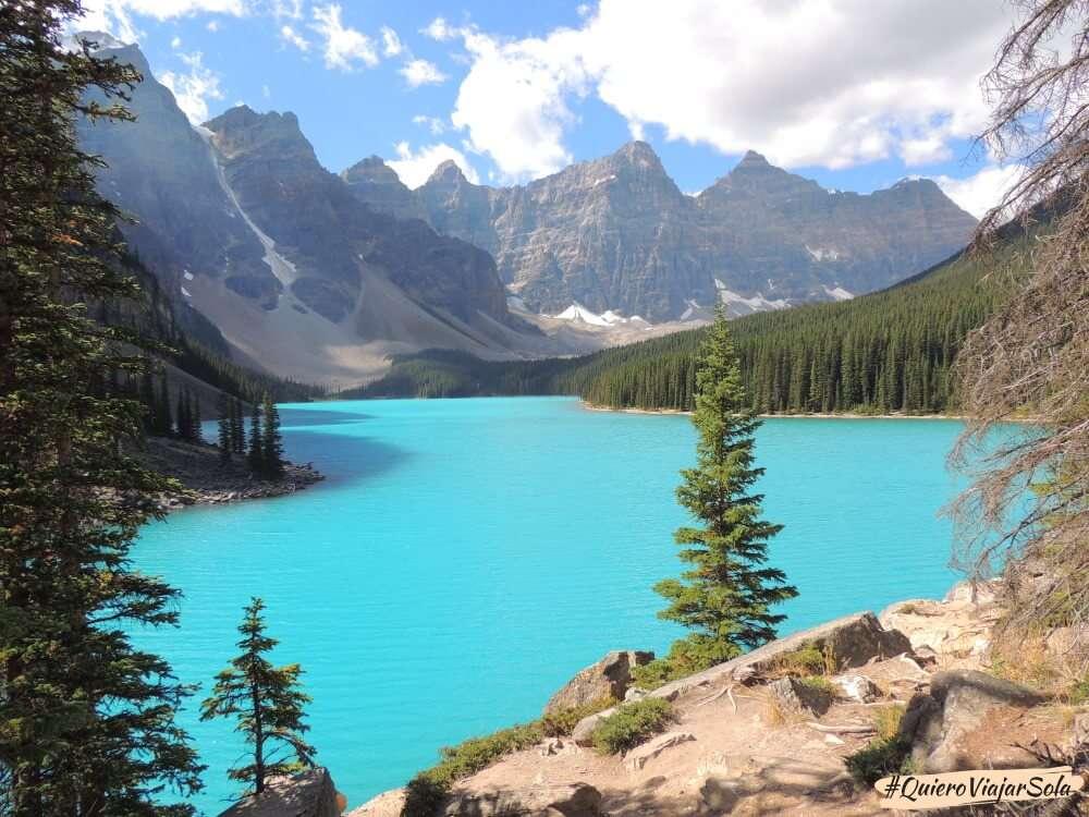 Viajar sola a Canadá, Lake Moraine