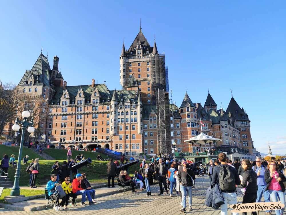 Viajar sola a Quebec, Chateau Frontenac