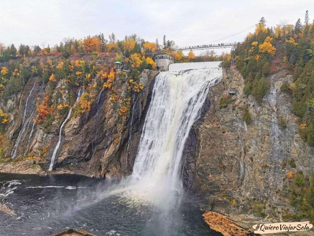 Viajar sola a Quebec, Montmorency