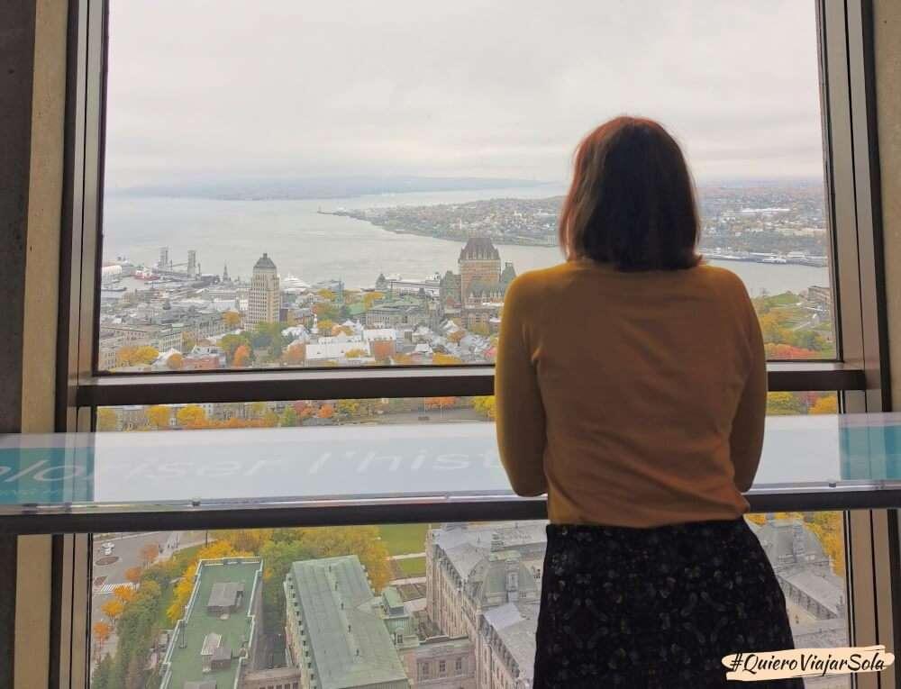 Viajar sola a Quebec, Observatoire de la Capitale