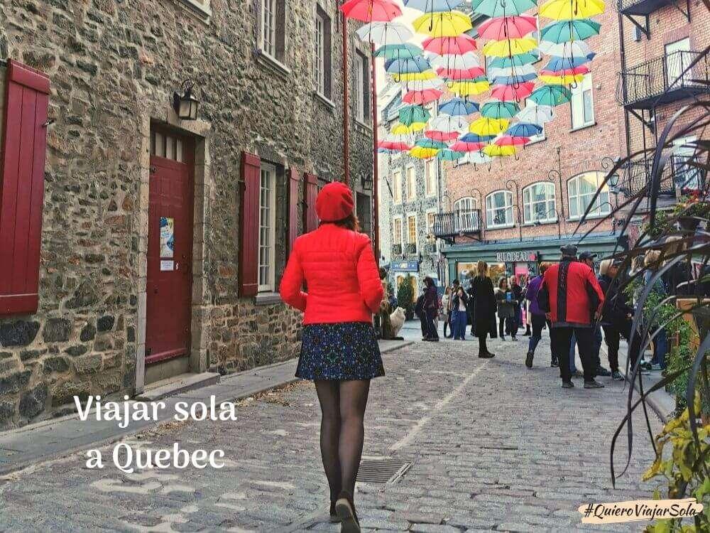 Viajar sola a Quebec