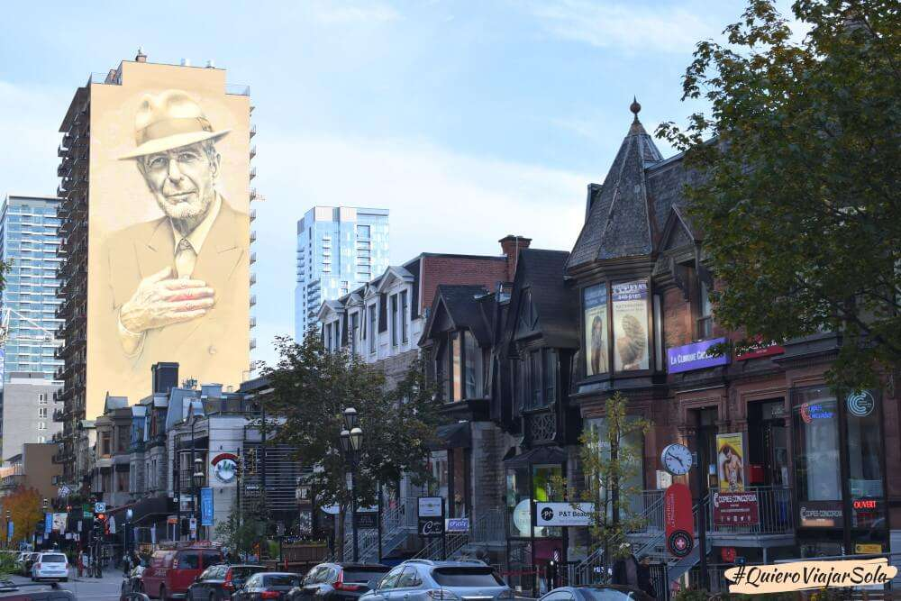 Viajar sola a Montreal, rue Crescent