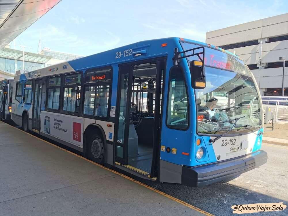 Viajar sola a Montreal, autobús aeropuerto