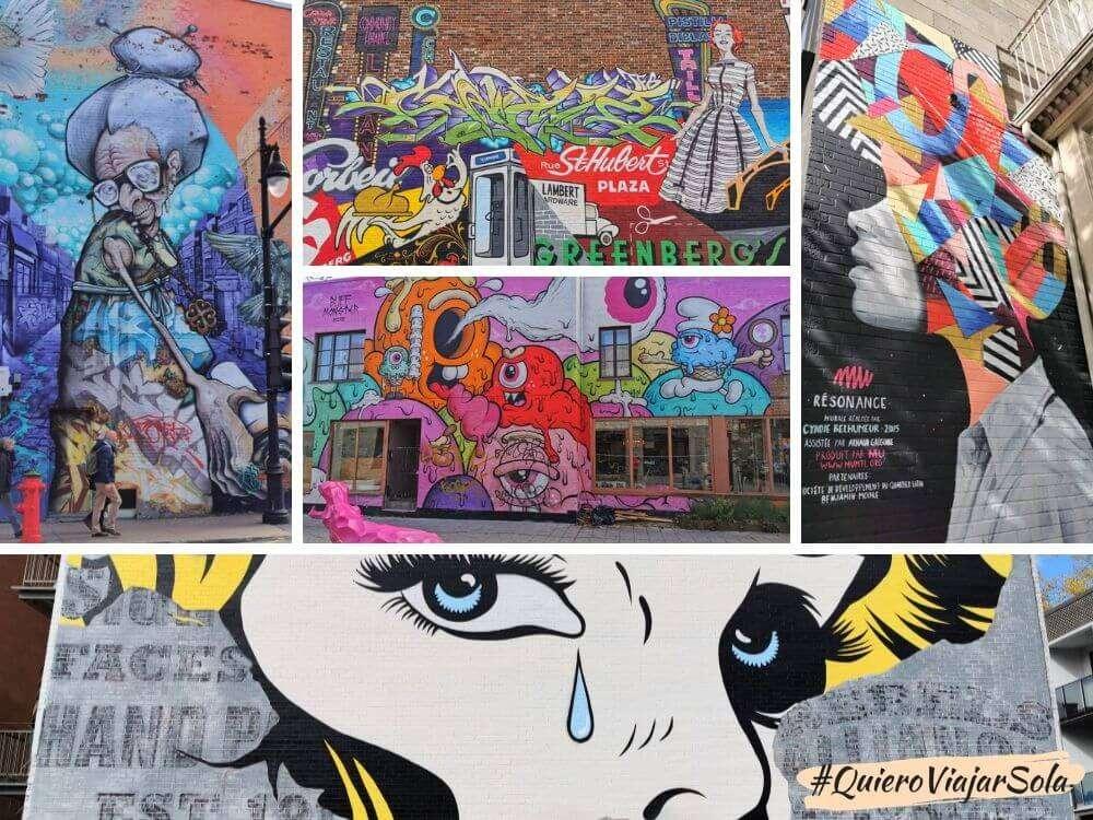 Viajar sola a Montreal, street art