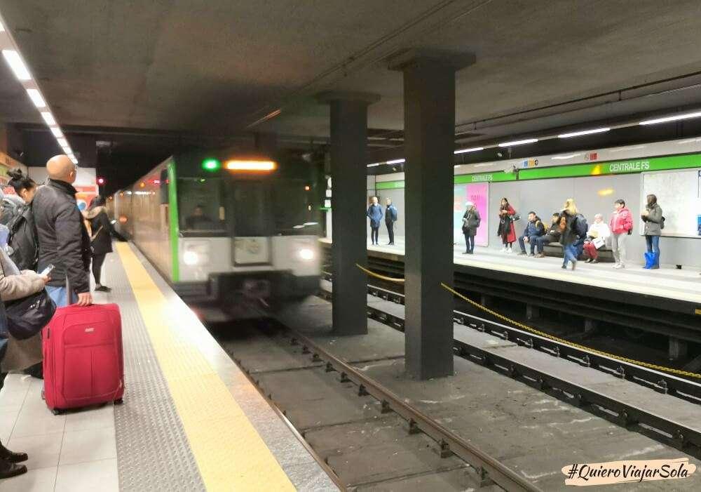 Cómo llegar a Milán, metro