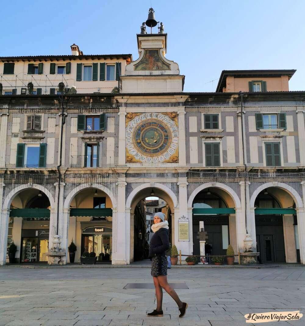 Un día en Brescia, piazza de la Loggia