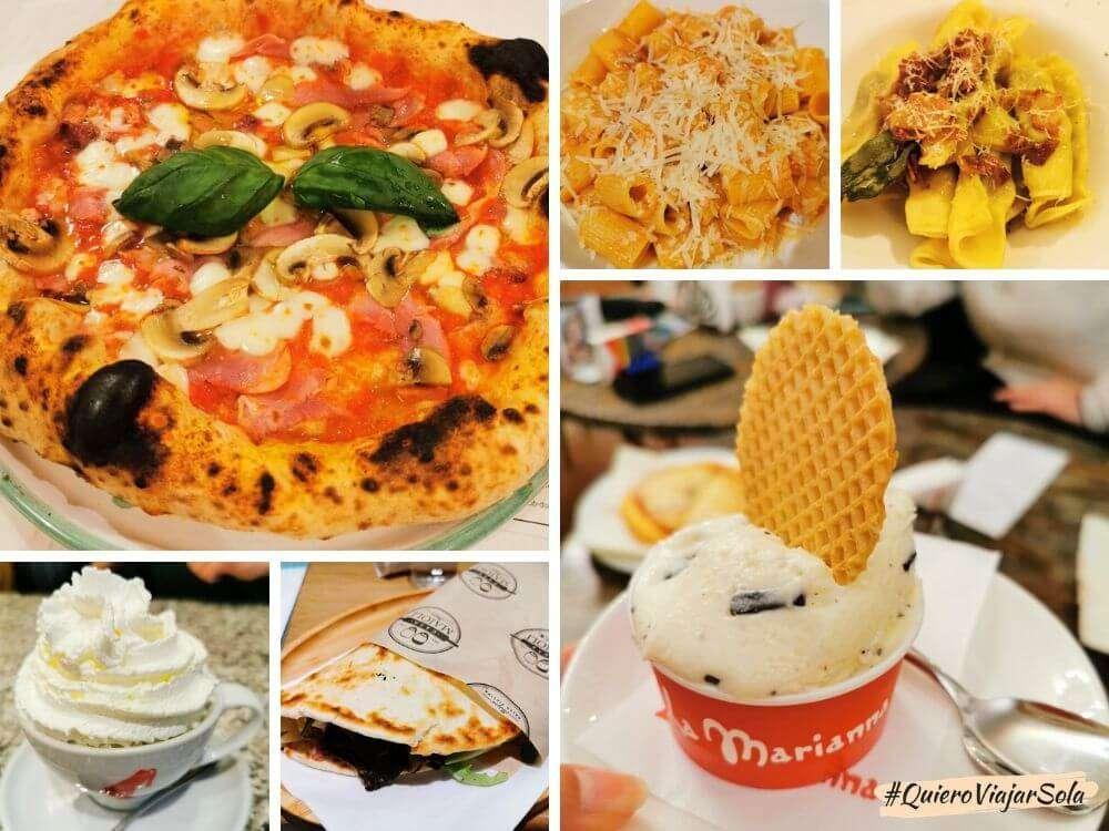 Viajar sola a Italia, gastronomía