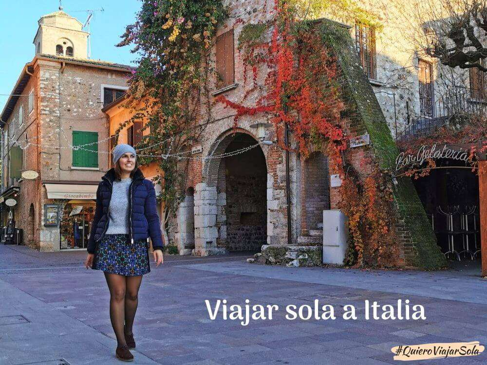 Viajar sola a Italia