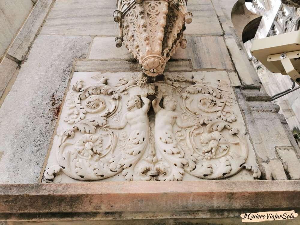 Visitar el Duomo de Milán, detalles terrazas