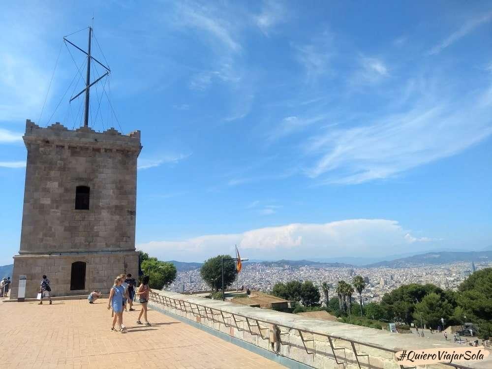 Un día en Montjuic, castillo de Montjuic