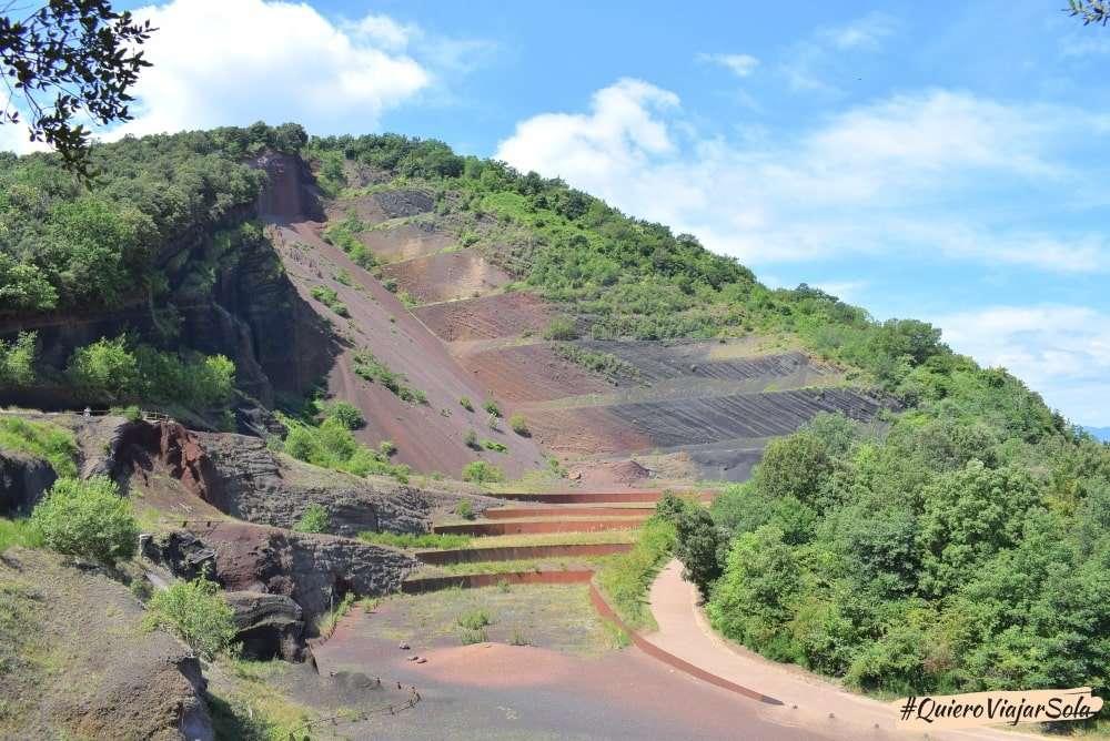 Viajar sola a La Garrotxa, volcán Croscat