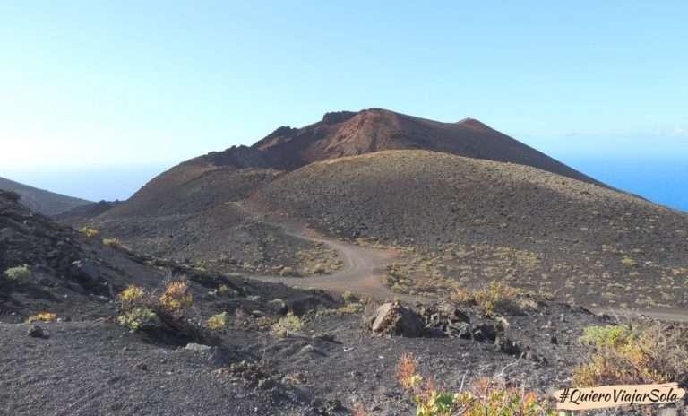 Viajar sola a La Palma, volcán Teneguía
