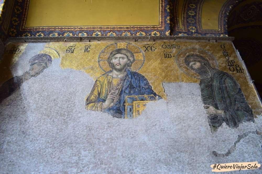Visitar Santa Sofía, mosaico