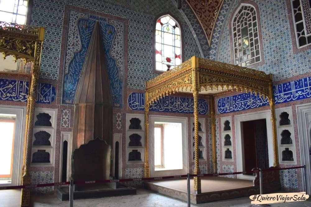 Visitar el Palacio de Topkapi, habitación del sultán