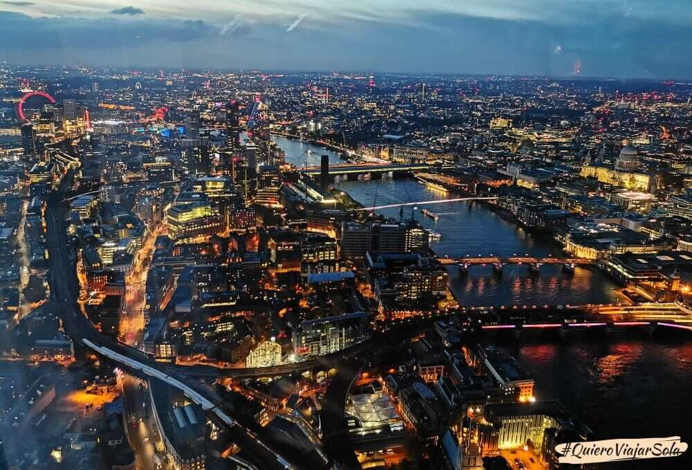 Subir a The View from The Shard, noche