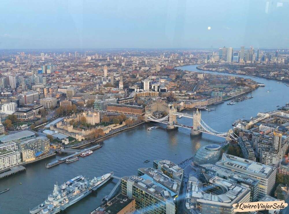 Subir a The View from The Shard, vista Tower Bridge