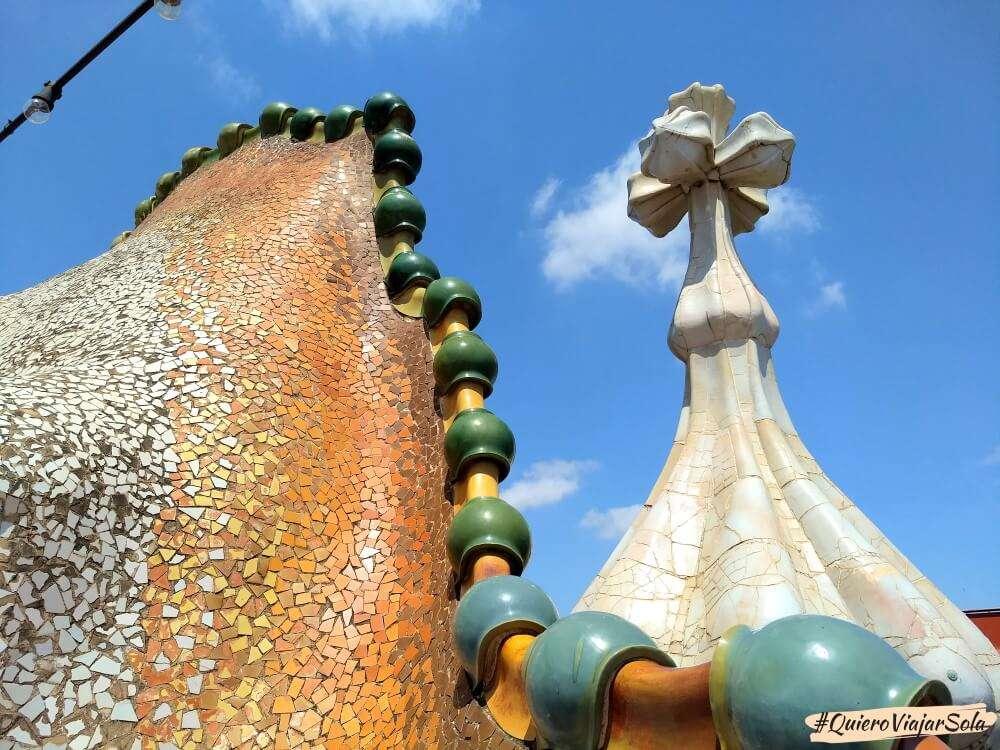 Visitar la Casa Batlló, azotea