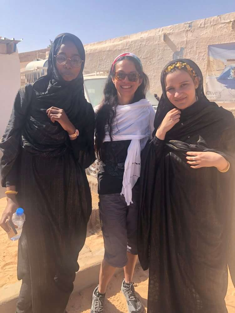Viajar a un campo de refugiados, familia