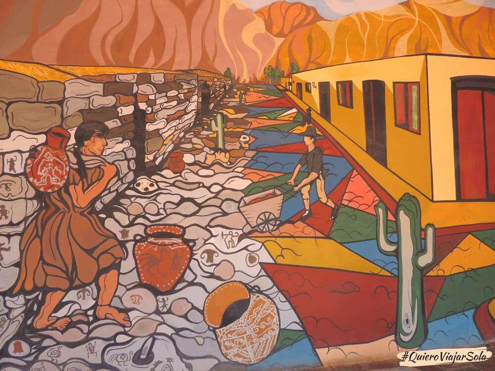 Excursión a Cachi desde Salta, mural Museo Pío Pablo Díaz